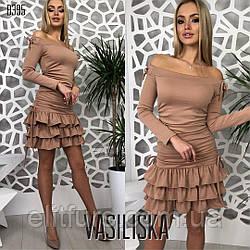 Платье юбочка рюшами + (2 цвета)
