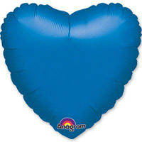 """Фольгированные шары без рисунка  18"""" Сердце металлик blue s15 (Anagram)"""