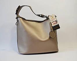 Сумка в сумке женская цвета бронза 9154