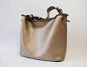 Сумка в сумке женская цвета бронза 9154, фото 2