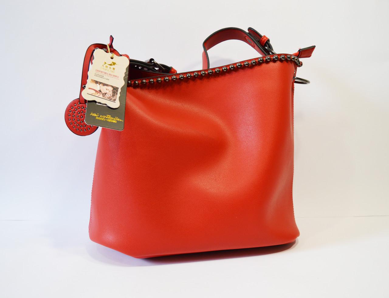 Сумка в сумке женская красная 9154