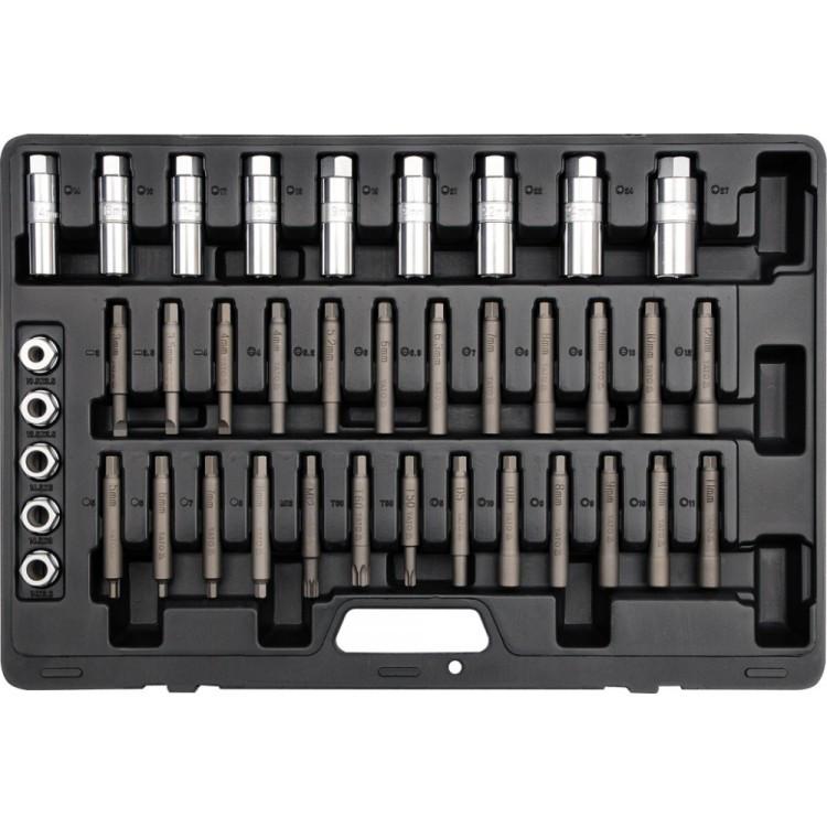 Набор специальных бит и головок разборки стоек амортизаторов автомобилей 39 ед. YATO YT-0628