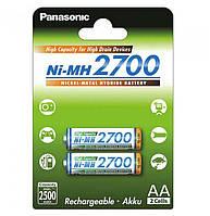 Аккумулятор Panasonic High Capacity AA Ni-MH 2700 мАч 2 шт