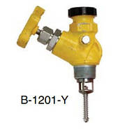 "Кран 1.1/4"" MNPT x 1.3/4"" Male ACME A-1201 жовтий 42 GPM ;Continental NH3 B-1201-Y"