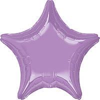 """Фольгированные шары без рисунка  18"""" Звезда металлик pearl lavendar s15 (Anagram)"""