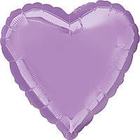 """Фольгированные шары без рисунка  18"""" Сердце металлик pearl lavendar s15 (Anagram)"""