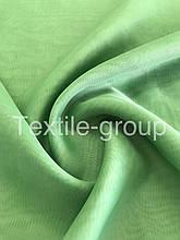 Шифон однотонный в цветах оптом зелёный
