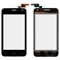 Сенсорний екран для смартфону Alcatel One Touch 4024D Pixi First, тачскрін чорний