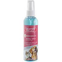 SENTRY Petrodex Dental Spray СЕНТРИ ПЕТРОДЕКС ДЕНТАЛ СПРЕЙ от зубного налета для собак и кошек, 118мл