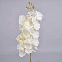 Орхидея искусственная белая 105 см Цветы искусственные