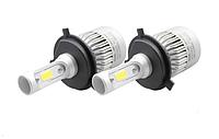 Автолампы LED S2 COB, H4, 8000LM, 72W, 12-24V