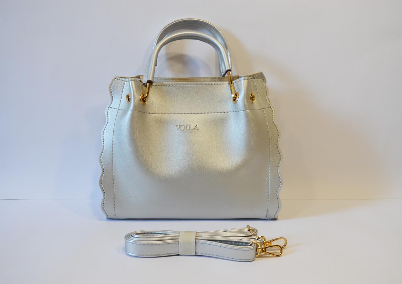 Серебристая сумка Voila