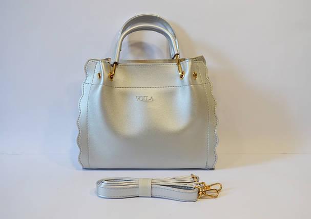 Серебристая сумка Voila, фото 2