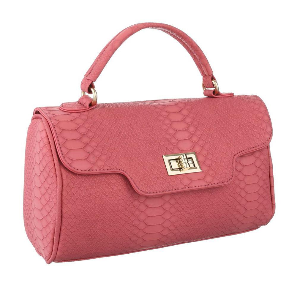 Маленькая сумка ранец из экокожи под рептилию (Европа) Красный