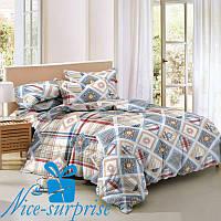 Полуторное постельное белье из сатина САРДИНИЯ (150*220)