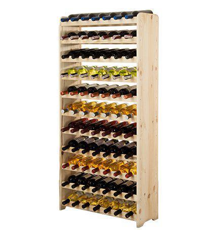 Винная полка деревянная RW-3-77 для 77 бутылок