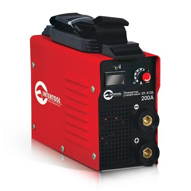 """Инвертор """"мини"""" 7.1кВт, 30-200А., электрод 1.6-4.0мм., IGBT, кейс. Intertool DT-4120"""