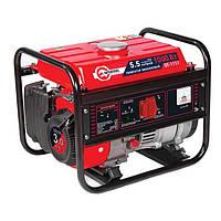 Генератор бытовой бензиновый 1.2 кВт, 3.0 л.с., 4-х тактный, ручной пуск Intertool DT-1111