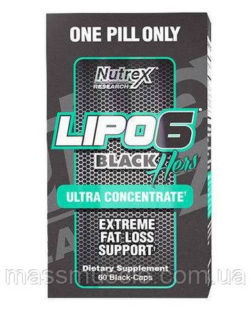 Жиросжигатель Nutrex Lipo-6 Black Hers Ultra Concentrate 60 caps