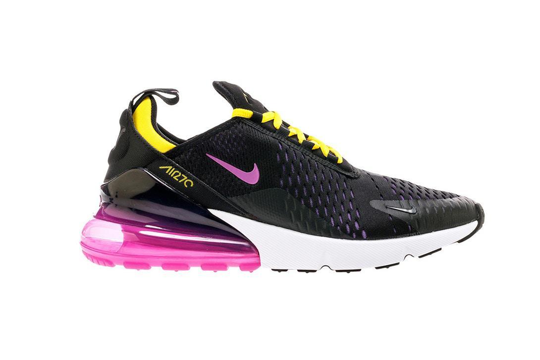 Кроссовки женские Nike Air Max 270 Black Purple Yellow (в стиле Найк ... bf50edbfbc5