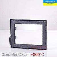 Дверца для печи со стеклом Hetta Neo 490. Размеры 390/490мм