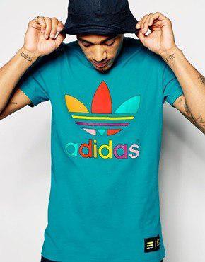 Футболка Adidas, голубая M