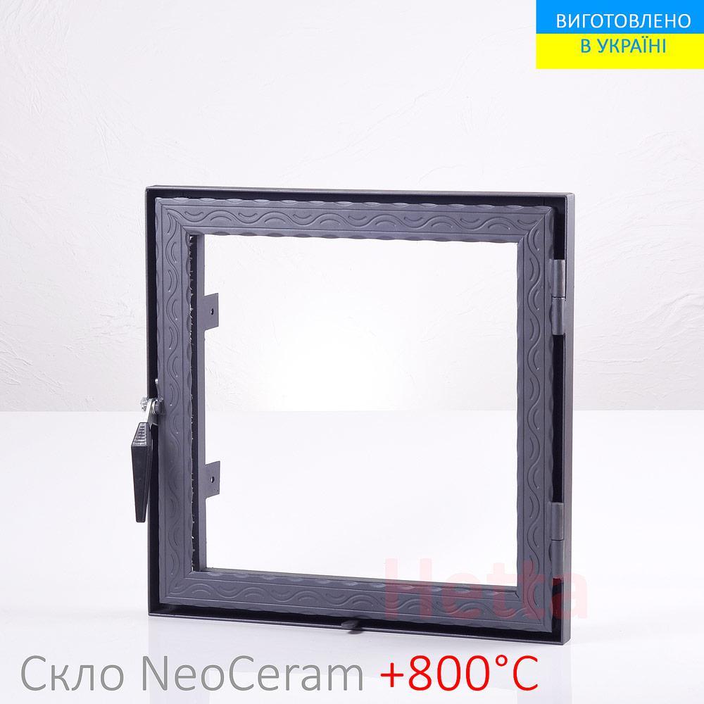 Дверца для камина со стеклом Hetta Neo 500/500мм
