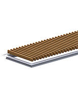 Комплект S рамка с деревянной решеткой для конвекторов Carrera 4S Black 120 180.1000.