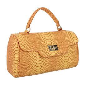 Маленькая сумка ранец из экокожи под рептилию (Европа) Желтый