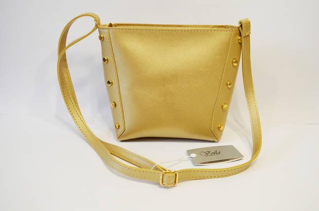 Золотистая женская сумка Voila, фото 2