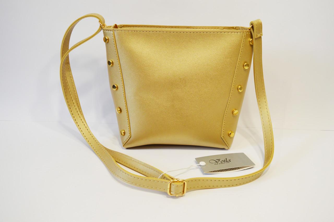 Золотистая женская сумка Voila