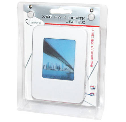 USB Hub Gembird UHD-CT09 хаб на 4 порта, фото 2