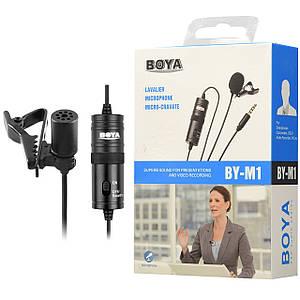Конденсаторний петличний мікрофон BOYA BY-M1 (6 метрів)