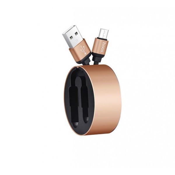 Кабель HOCO U23 Resilient Charging Micro USB Cable (1m) Gold