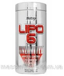 Жиросжигатель Nutrex Lipo 6 UNLIMITED 120 caps
