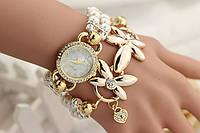 Часы женские с жемчужным браслетом