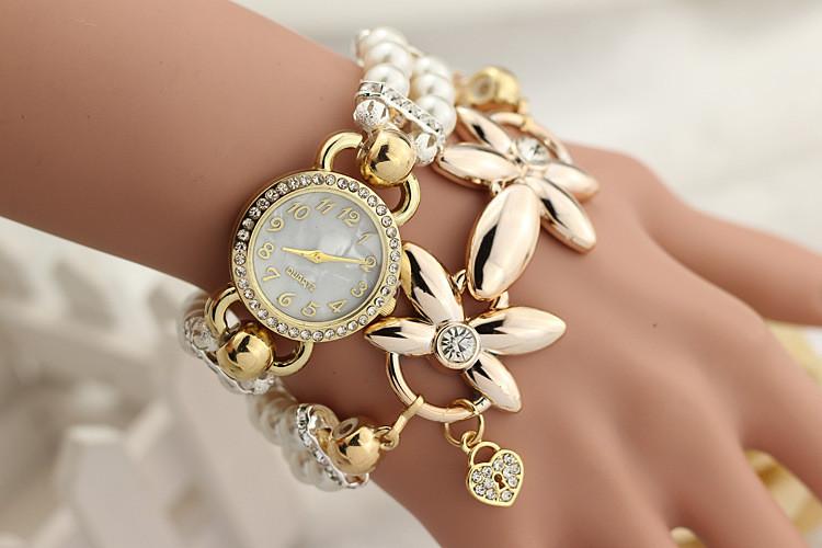"""Часы женские с жемчужным браслетом - Интернет-магазин """"Dzhinestra"""" - аксессуары, одежда. в Одессе"""