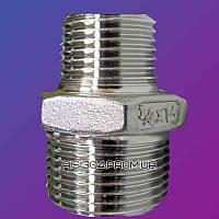 Ниппель из нержавеющей стали (переходной) Ду 25/20 AISI 304