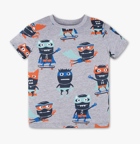 Детская летняя футболка Super-Monster на мальчика 4-5 лет C&A Германия Размер 110