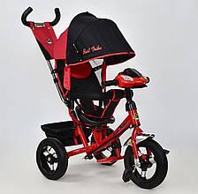 Велосипед 3х колесный Best Trike 7700. Поворотное сиденье, Игровая панель. Красный