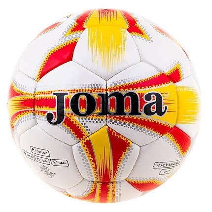 Мяч футбольный DXN White JM-4, оранжевый, фото 2