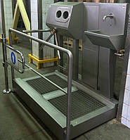 Санпропускник  с встроенным бесконтактным умывальником и сушкой для рук СПД 05.01(правосторонний), фото 1
