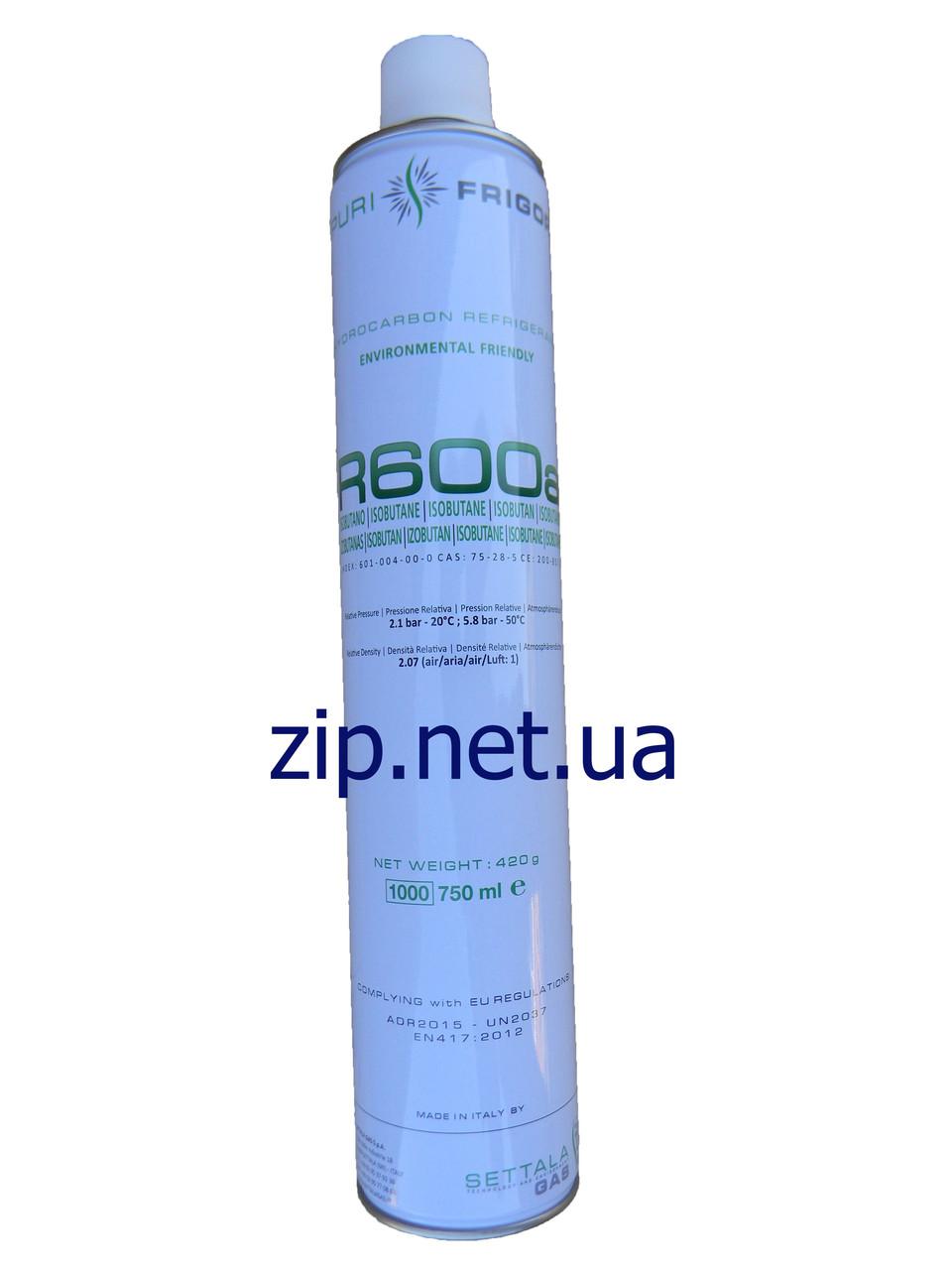 Фреон R-600a 420 грамм. Италия (под клапан)
