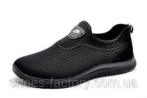 Летние мужские кроссовки в стиле Nike Free Run 3.0 Slip On, Black, фото 2