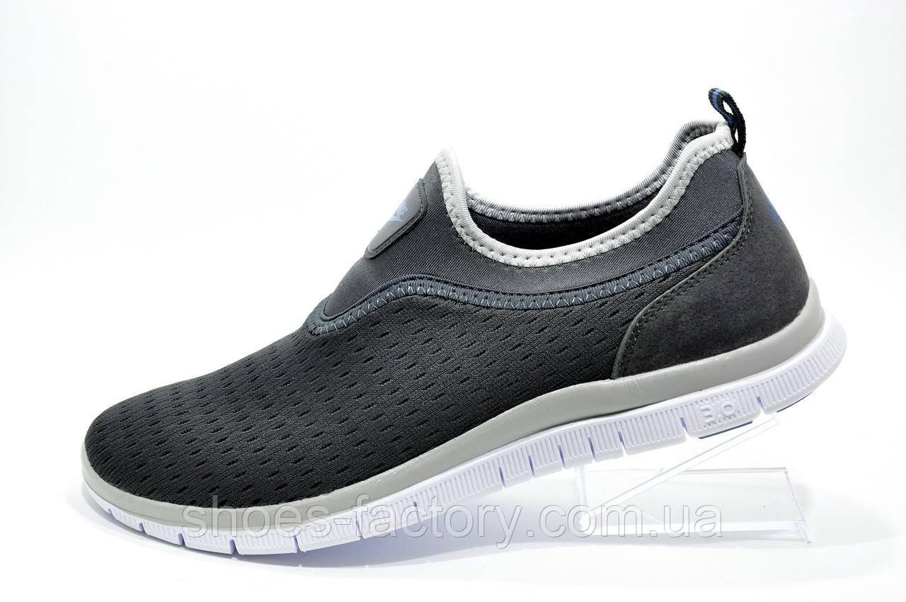 bdb75bf5 Летние мужские кроссовки в стиле Nike Free Run 3.0 Slip On, Gray 41-26см