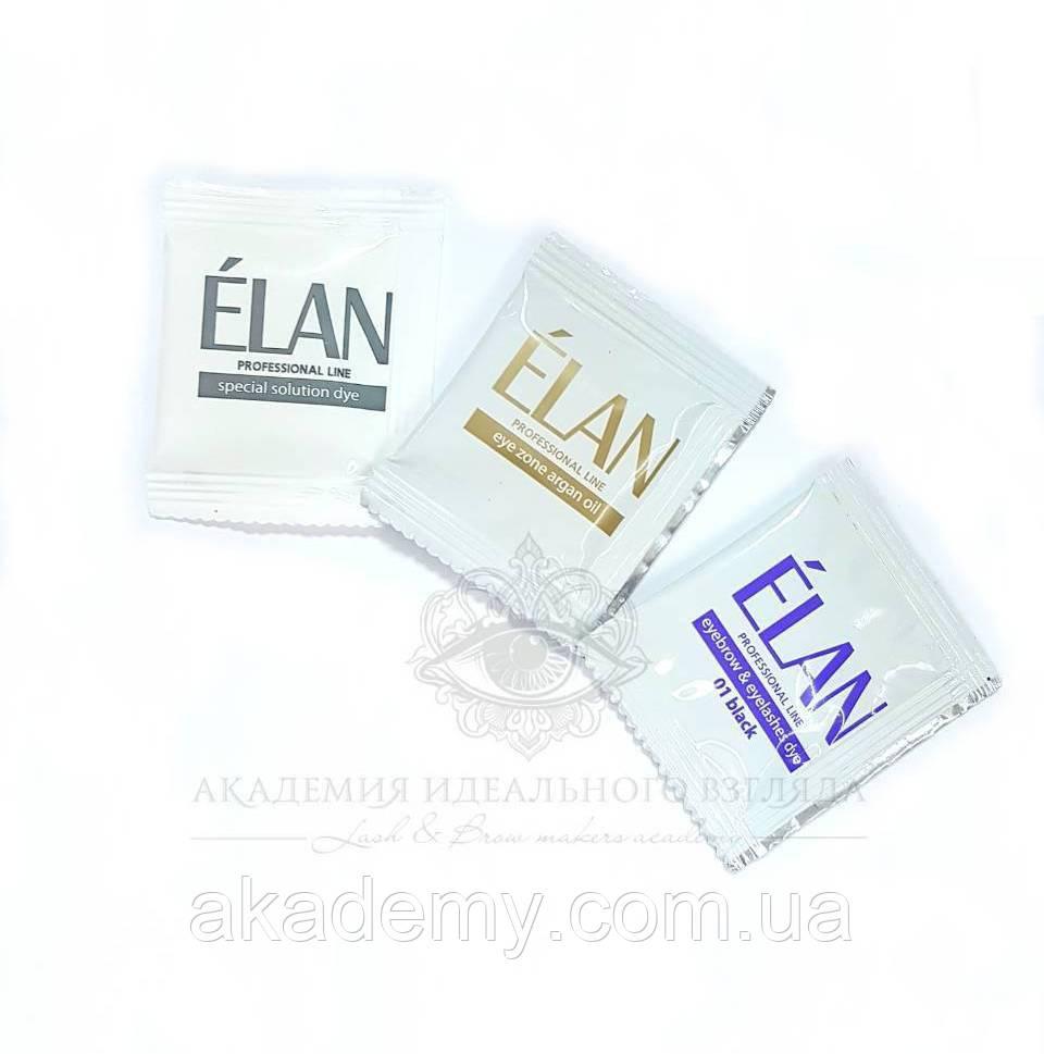 """Краска для бровей Elan комплект """"01 black"""" (3 саше)"""