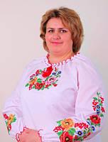 Вышиванка женская с оригинальной вышивкой на больших женщин, фото 1