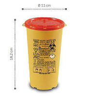 Контейнер для сбора иголок и медицинских отходов, 1 л(DISPO) (з РP)