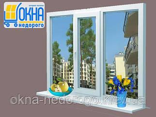 Металлопластиковое окно Steko S400 с одной стороной открывания