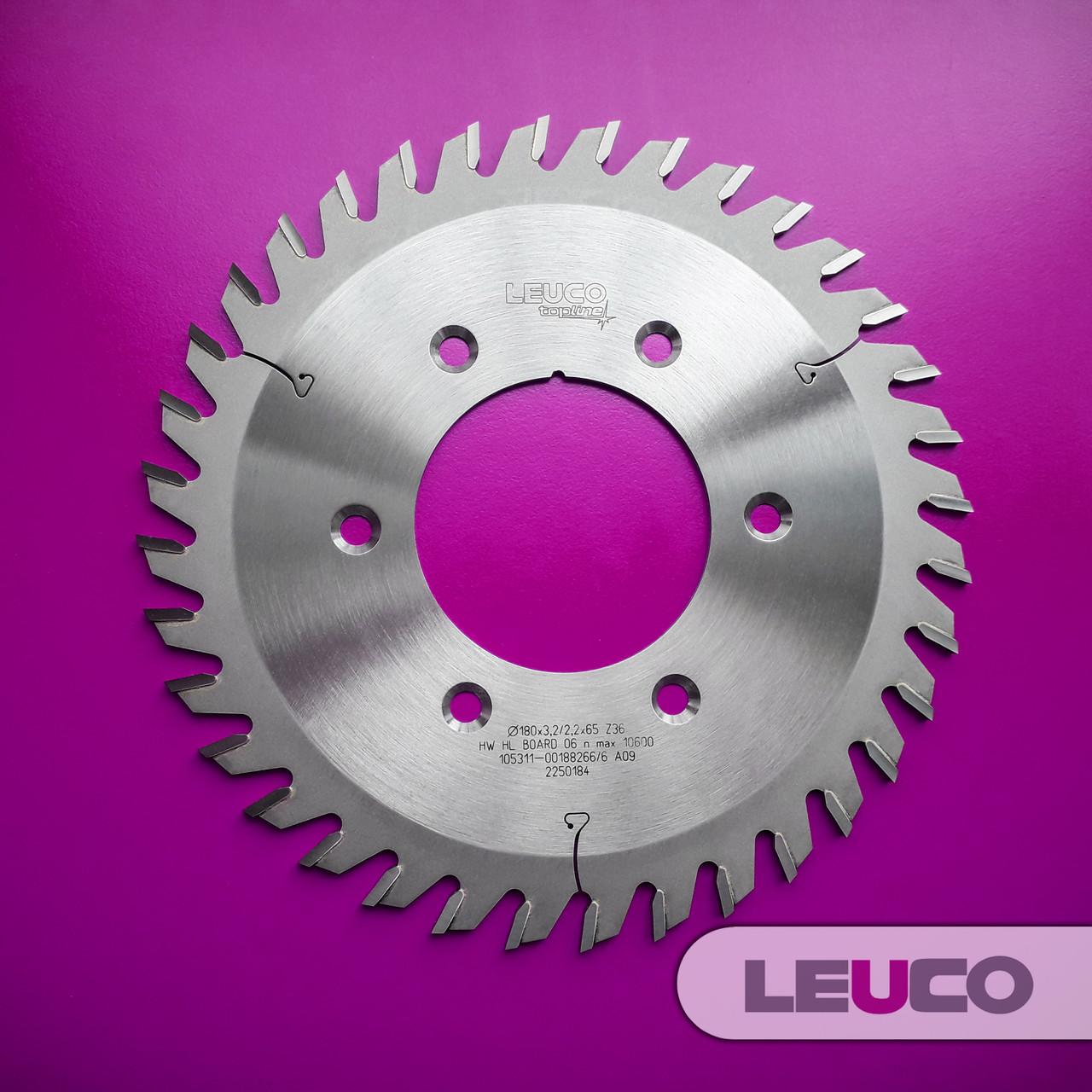 180х3,2х2,2х65, Z=36 Підрізні дискові пили Leuco для подрібнювачів і фланця